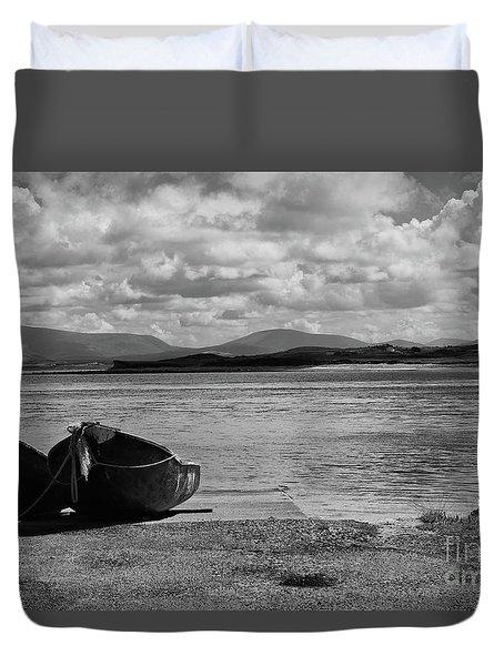 Bullsmouth Pier Achill Island Duvet Cover
