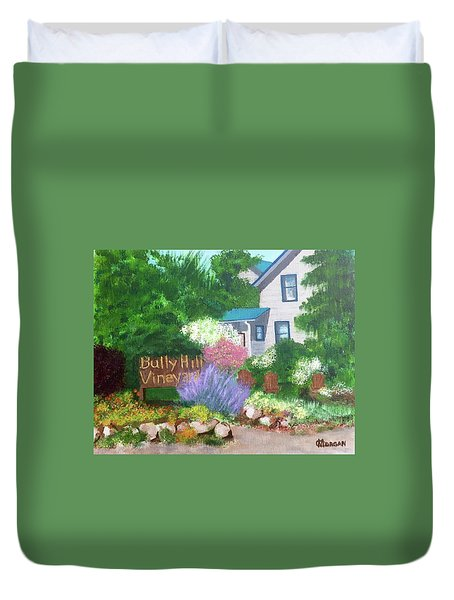 Bully Hill Vineyard Duvet Cover