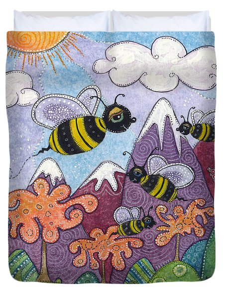 Bumble Bee Buzz Duvet Cover