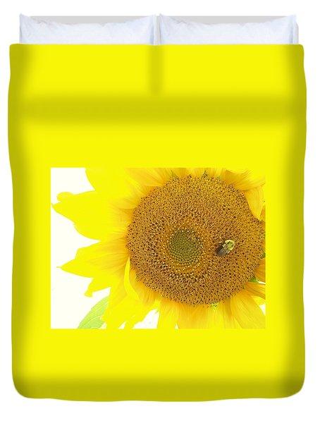 Bumble Bee Sunflower Duvet Cover