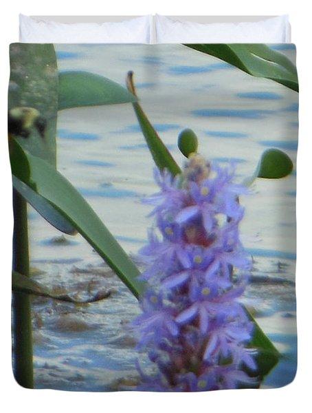 Bumblebee Pickerelweed Moth Duvet Cover
