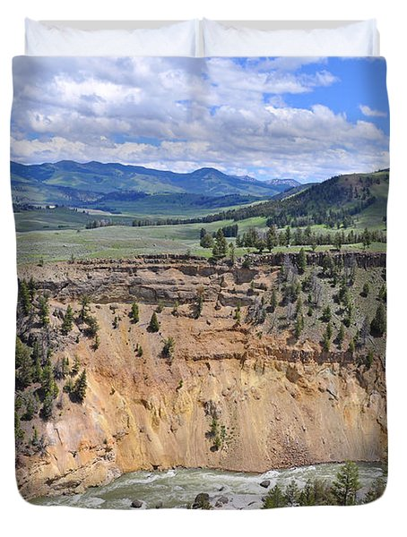 Bumpus Butte Yellowstone Duvet Cover
