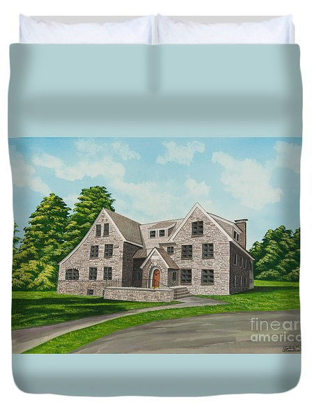 Bunch House Duvet Cover by Charlotte Blanchard