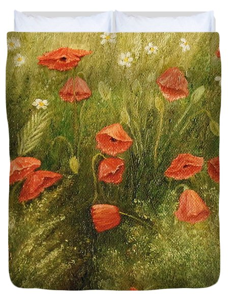 Bunch Of Poppies Duvet Cover