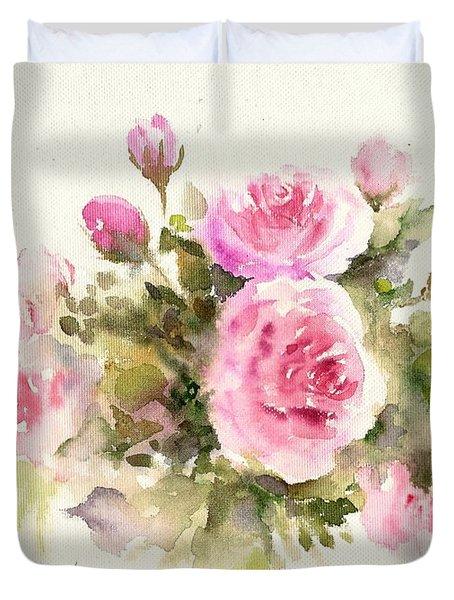 Bunch Of Roses Duvet Cover