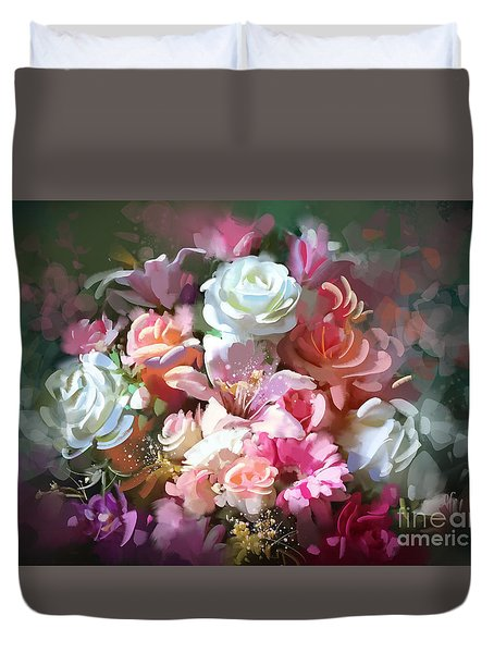 Bunch Of Roses Duvet Cover