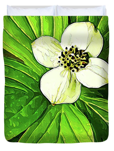 Bunchberry Blossom Duvet Cover