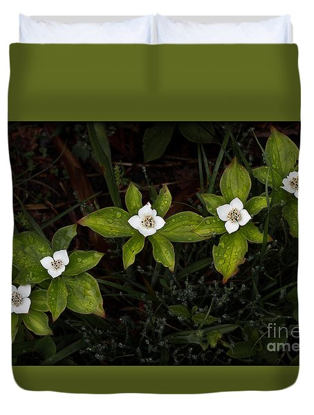 Bunchberry Flowers Duvet Cover
