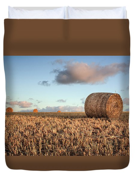 Bundy Hay Bales #7 Duvet Cover