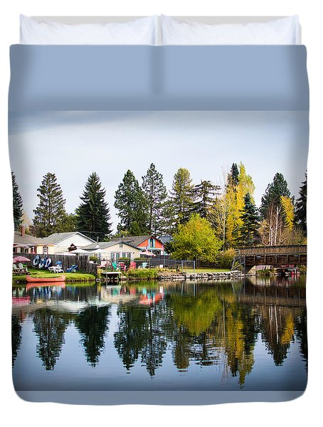 bungalows on the Deschutes Duvet Cover