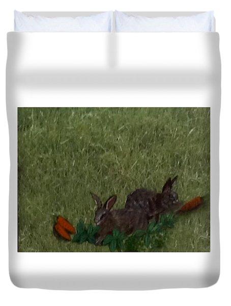 Bunny  Buddies Duvet Cover
