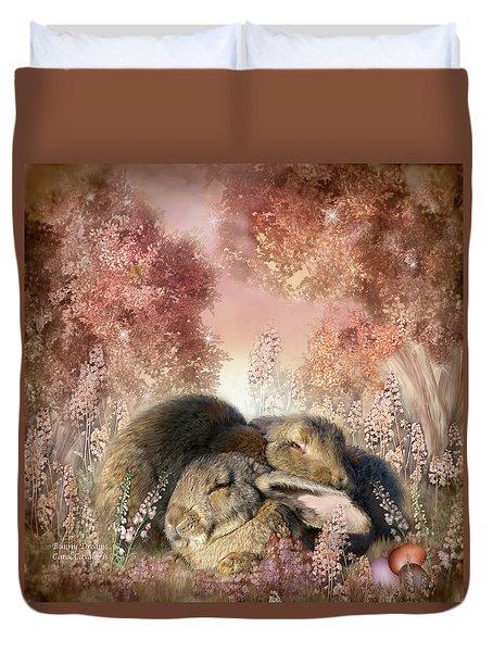 Bunny Dreams Duvet Cover by Carol Cavalaris
