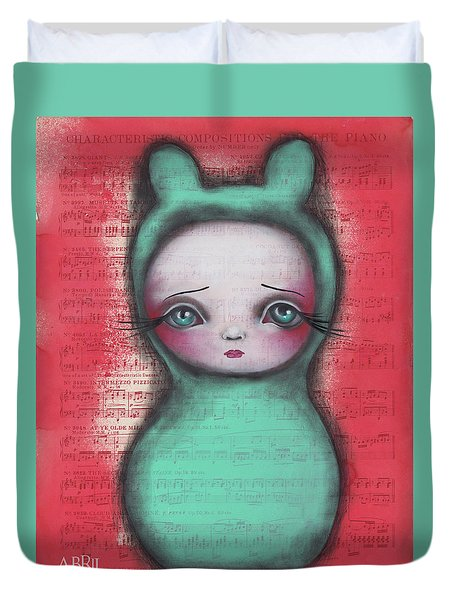Bunny Girl Duvet Cover by Abril Andrade Griffith