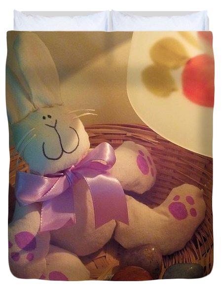 Bunny In A Basket Duvet Cover