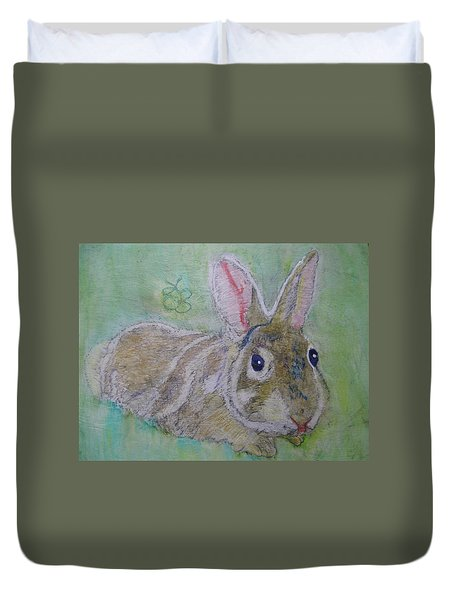bunny named Rocket Duvet Cover