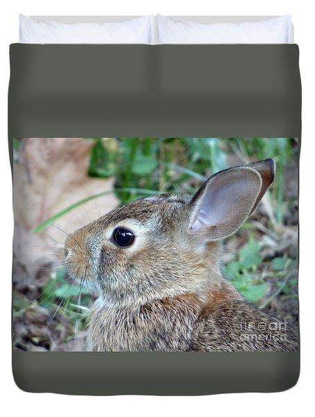 Bunny Portrait Duvet Cover