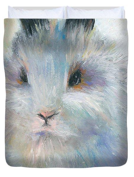 Bunny Rabbit Painting Duvet Cover by Svetlana Novikova