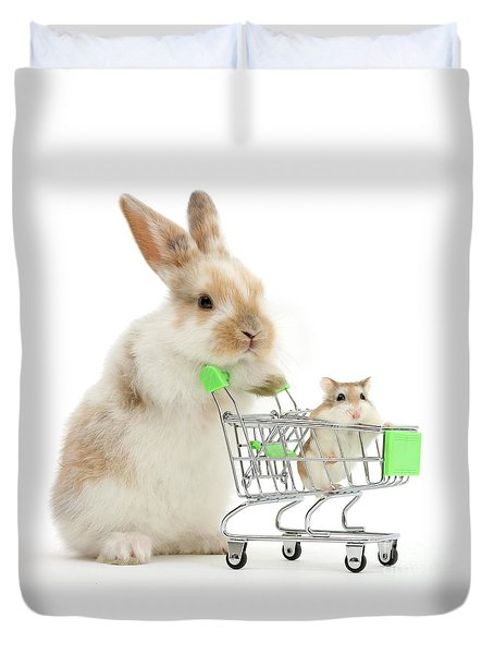 Bunny Shopping Duvet Cover
