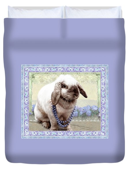 Bunny Wears Beads Duvet Cover