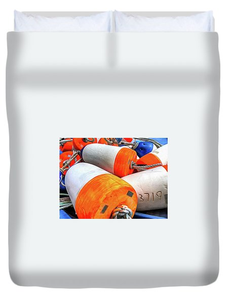 Buoy 3719 Duvet Cover by Thom Zehrfeld