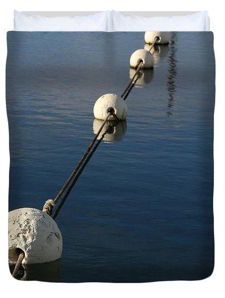 Buoys In Aligtnment Duvet Cover