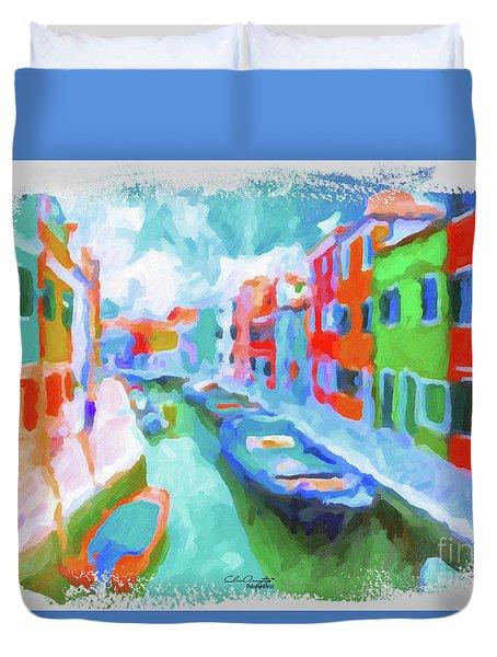 Burano, Venice, Italy Duvet Cover