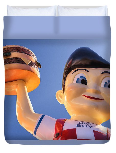 Burger Bob Duvet Cover