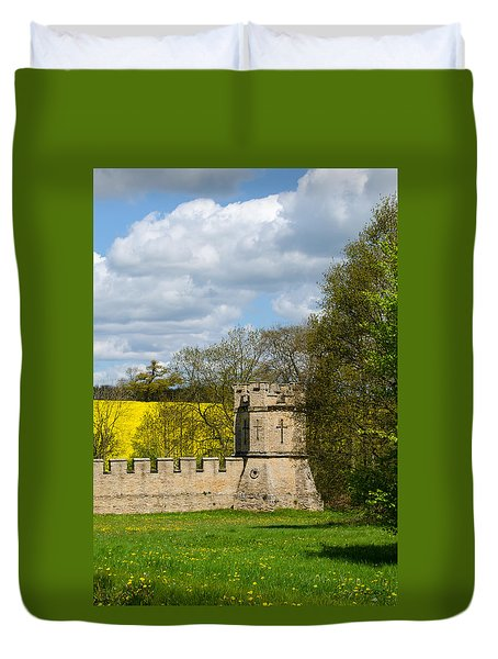 Burghley House Fortifications Duvet Cover