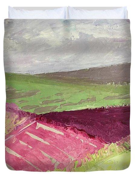 Burgundy Fields Duvet Cover