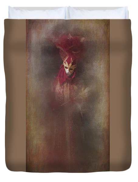 Burgundy In Venice Duvet Cover
