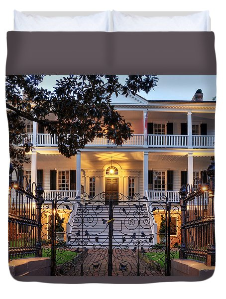 Burgwin Wright House Duvet Cover by Greg Mimbs