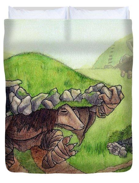 Burial Mound Trolls Duvet Cover
