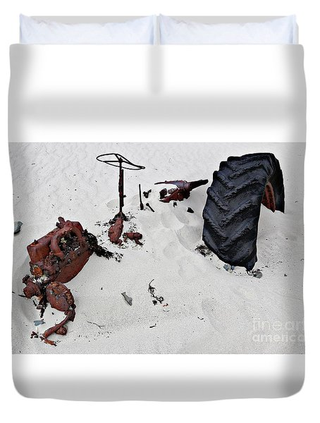 Duvet Cover featuring the photograph Buried Up To The Wheels by Stephen Mitchell