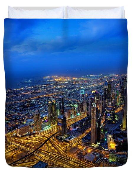 Burj Khalifa View Duvet Cover
