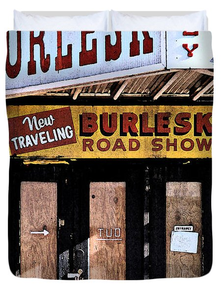 Burlesk At The Folly Duvet Cover