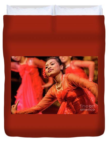 Burmese Dance 1 Duvet Cover by Werner Padarin