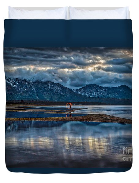 Duvet Cover featuring the photograph Burn by Mitch Shindelbower