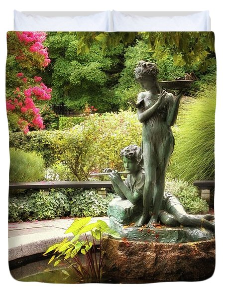 Burnett Fountain Garden Duvet Cover