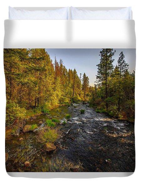 Burney Falls Hdr Duvet Cover