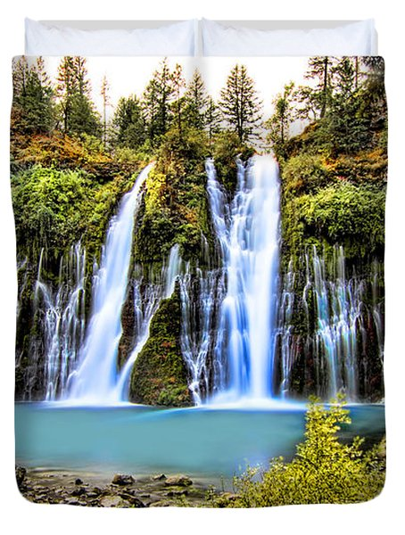 Burney Falls Duvet Cover by Jason Abando