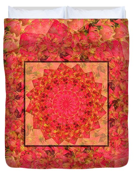 Burning Bush Floral Design  Duvet Cover
