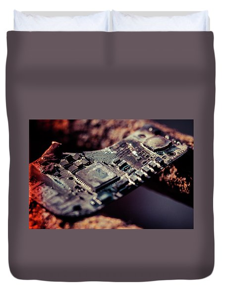 Burning Circuitry Duvet Cover