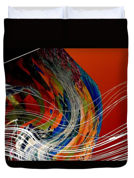 Burning City Sunset Duvet Cover