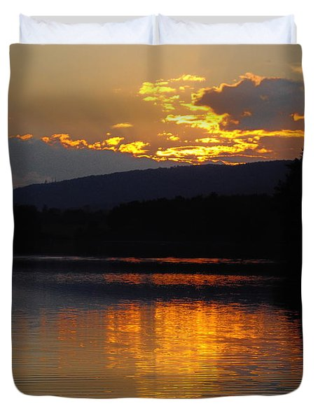Burning Gold Duvet Cover by Vilas Malankar