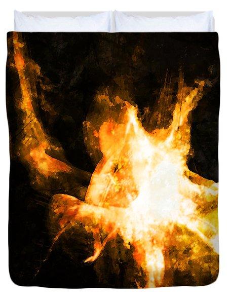 Burning Man Duvet Cover