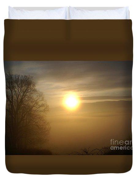 Burning Off The Fog Duvet Cover