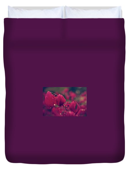 Burning Red Duvet Cover