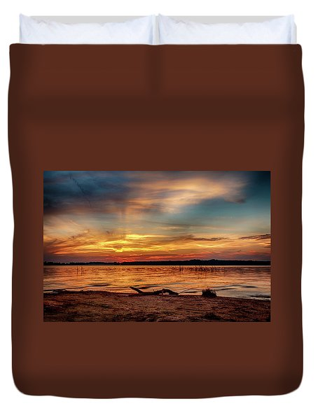 Burning Sky Duvet Cover by Doug Long