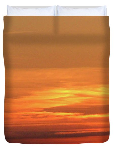 Burning Sunset Duvet Cover