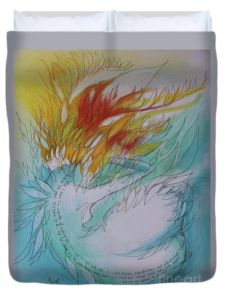 Burning Thoughts Duvet Cover by Marat Essex